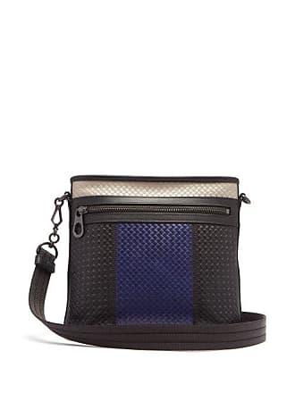 e5f6fa0f9c33 Bottega Veneta Intrecciato Colour Block Leather Messenger Bag - Mens -  Black Multi