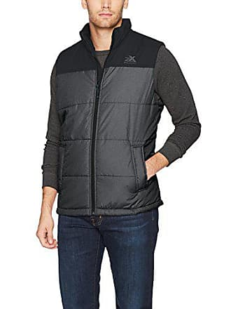 ZeroXposur Mens Block-Quilted Puffer Vest, Black Denim, Medium