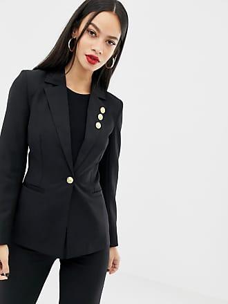 Unique21 Unique21 blazer with button detail-Black