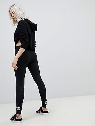 adidas Originals Adidas Originals - adicolor - Schwarze Leggings mit  Dreiblattlogo - Schwarz bf7b154d4b