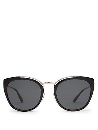 014ec1f5ecaa Prada Cat Eye Acetate And Metal Sunglasses - Womens - Black