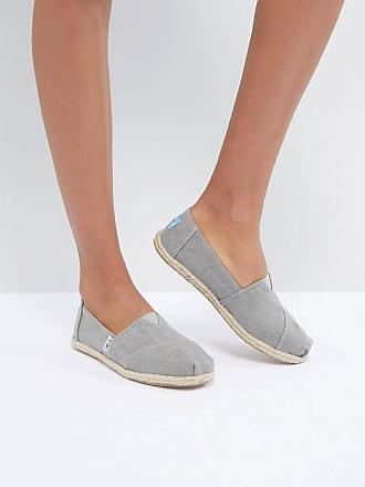Toms Drizzle Gray Canvas Espadrilles - Gray