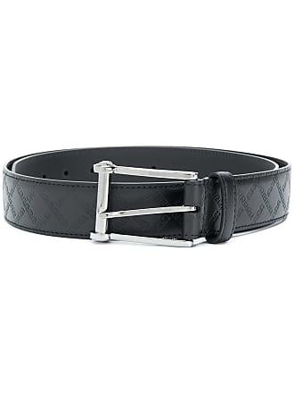 Versace Greek Key embossed belt - Black