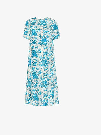 By Walid Tilda relaxed floral-print silk midi dress