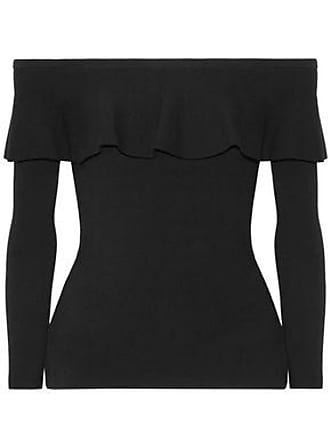 f3994501540e7a Michael Kors Michael Kors Collection Woman Off-the-shoulder Ruffled  Stretch-knit Top