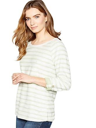 04e02d3063b233 Mantaray Womens Pale Green Textured Stripe Sweatshirt 24