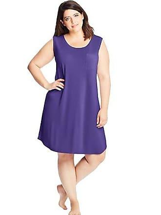 Just My Size Cool Girl Sleeveless Sleep Gown Purple Circle Geo 1X