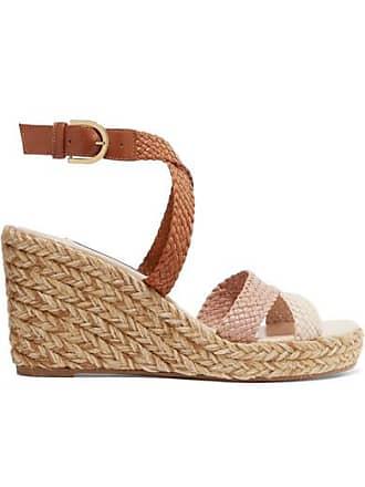 9722d9efb153 Stuart Weitzman Elsie Woven Leather Espadrille Wedge Sandals - Neutral