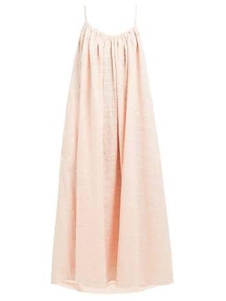 Mara Hoffman Fiona Scoop Neck Plaid Cotton Maxi Dress - Womens - Pink