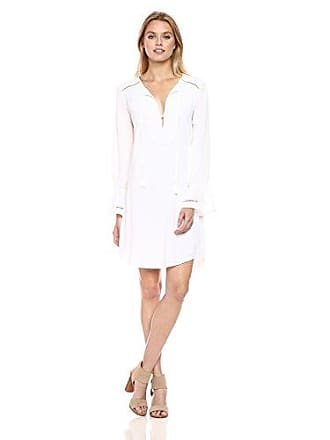 Trina Turk Womens Lucious Shirt Dress, White XL
