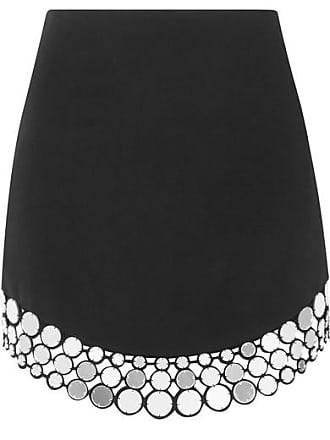 DAVID KOMA Embellished Crepe Mini Skirt - Black