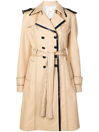 Pinko double breasted trench coat - Neutrals