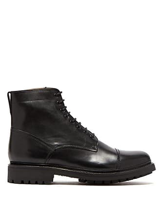 Grenson Joseph Lace Up Leather Boots - Mens - Black