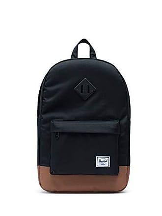 Herschel Heritage Mid-Volume Backpack, Black/Saddle Brown, One Size