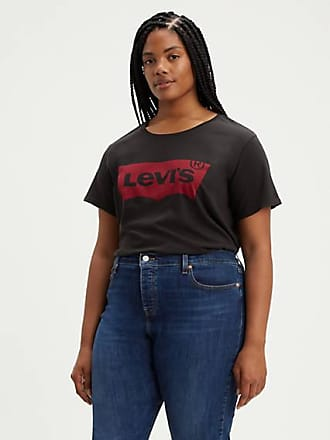 Levi's The Perfect Graphic Tee (Plus Size) - Black