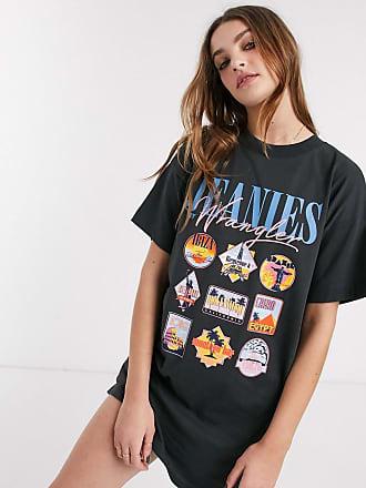 Wrangler Vestito T-shirt nero con stampa di destinazioni