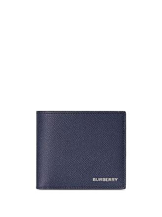 3d6abe32ef213 Burberry Portemonnaie aus gekörntem Leder - Blau