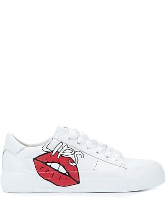 Kennel & Schmenger lips print sneakers - Branco