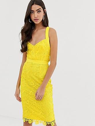 82e0ef3a3a39 Paper Dolls Tall Vestito giallo in pizzo alluncinetto con spalline  multiposizione - Giallo