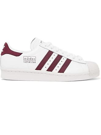 3c4b195f800 adidas Originals Baskets En Cuir Et En Daim Superstar 80s - Blanc