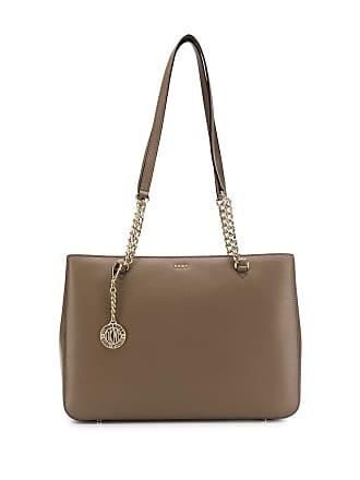DKNY chain tote bag - Marrom