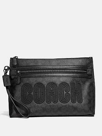 8a7e4d397a0f Coach Coach Academy Pouch In Signature Canvas With Print