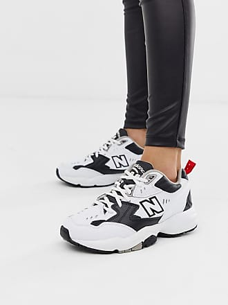 New Balance 608 white and black chunky sneakers - White