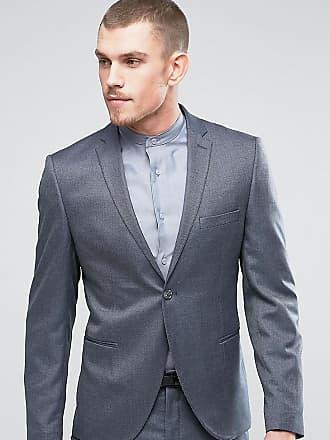 Selected Smal kostymjacka med birdseye-mönster - Mellangrå 4e74770319406