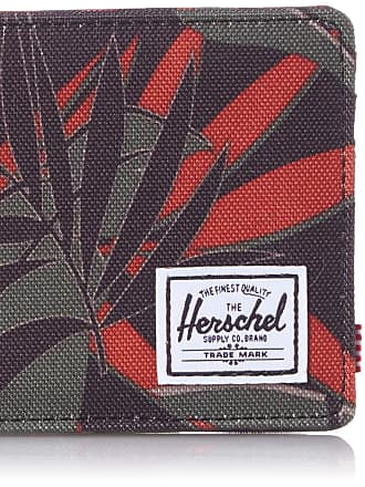 Herschel Herschel Unisexs Roy RFID Bi-Fold Wallet, Dark Olive Palm, One Size