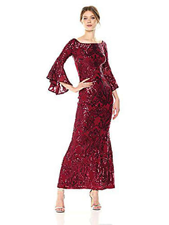3290a34d2e Betsy   Adam Womens Long Off The Shoulder Sequin Bell Sleeve
