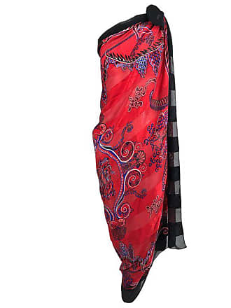 dee2a2d3ba62a Zandra Rhodes Vintage Zandra Rhodes Large Silk Shawl In Red And Purple The  Three Graces
