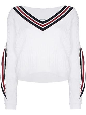 Y / Project Suéter de tricô gola V - Branco