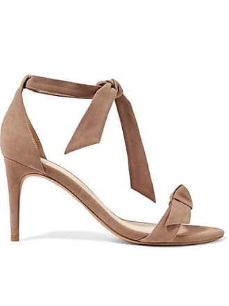 1cb76fabe1c8 Alexandre Birman Clarita Bow-embellished Suede Sandals - Taupe
