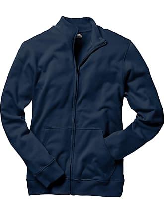 d345541f2570 Bonprix Herr Munkjacka med ståkrage i blå lång ärm - bpc collection