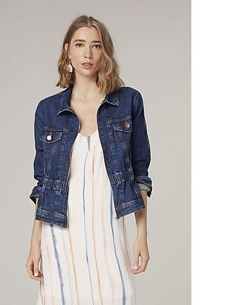 Dzarm Jaqueta Jeans Com Elástico - Azul