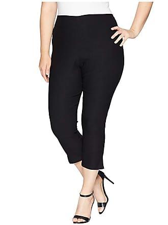 Unique Vintage Plus Size Rachelle Capri Pants (Black) Womens Casual Pants