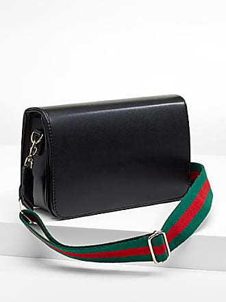 Simons Striped strap shoulder bag