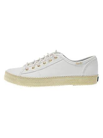 d46a2a92e Keds Damen Schuhe Kickstart Mesh Foxing Cream weiß Gold Sneaker