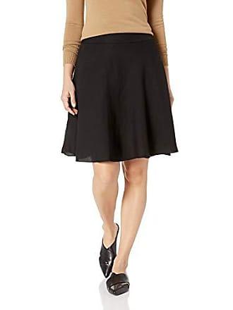 Nic+Zoe Womens Petite Wonderstretch Skirt, Black Onyx, 8p
