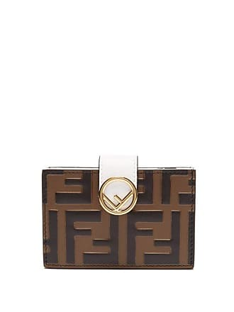 92a371fdf6c9 Fendi F Is Fendi Leather Cardholder - Womens - White Multi