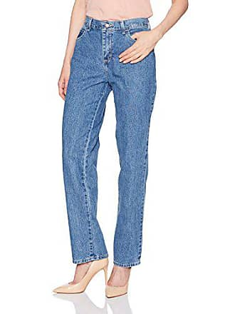 Lee Womens Missy Relaxed Fit All Cotton Straight Leg Jean, aero, 8 Long