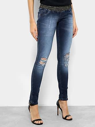 Biotipo Calça Jeans Skinny Biotipo Lurex Cintura Média Feminina - Feminino bf645150af0