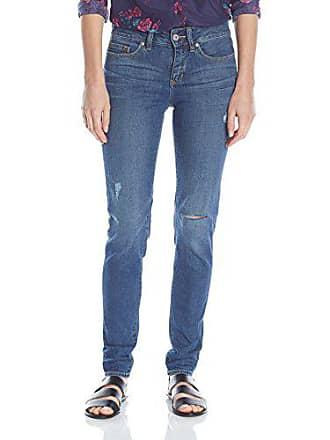 Yummie Tummie Modern Mid Rise Slimming Skinny Denim Jeans, Rugged Wash, 28