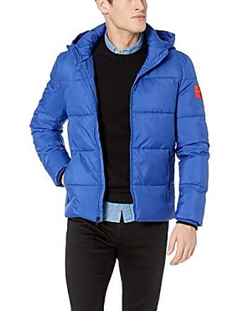 Calvin Klein Jeans Mens Coated Puffer Jacket, surf The Web, X-Large
