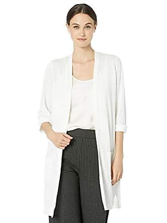 Kasper Womens 3/4 Sleeve Patch Pocket Duster, Lily White, S