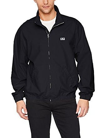 Obey Mens Easy Zip Up Jacket, Black, L