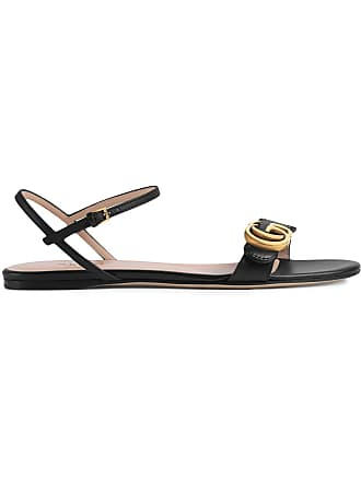 c103c6044223 Gucci Leather Double G sandal - Black