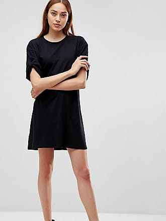 895bce4e6f0 Asos Tall Ultimate Rolled Sleeve T-Shirt Dress With Tab