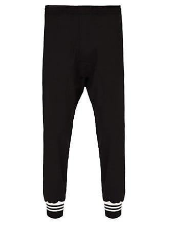 Neil Barrett Striped Cuff Track Pants - Mens - Black Multi