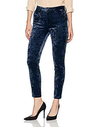 Joe's Womens Charlie High Rise Velvet Skinny Jean, Navy, 28